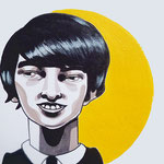 Bart, Acrylic & marker On Paper, (18x13 cm).