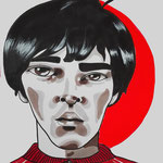 Ian Brown, Acrylic & marker On Paper, (18x13 cm).