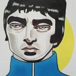 Noel Gallagher, Acrylic & marker On Paper, (18x13 cm).