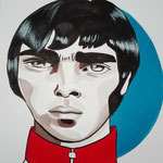 Liam Gallagher, Acrylic & marker On Paper, (18x13 cm).