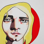 Kurt Cobain, Acrylic & marker On Paper, (18x13 cm).