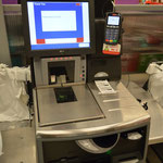 Self service machines at Kmart