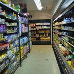 At a small supermarket,