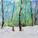 winter 2, aquarel 20 x 30 cm
