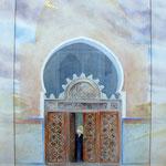 fata morgana refurbische aquarel met bladgoud 50 x 70 cm