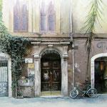 trastevere, Rome, aquarel met foto