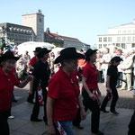 Linedance im Leipziger Zentrum