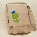 Messenger Bag mit applizierter Artischocke