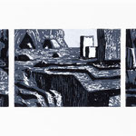Estudio-Necropolis-023 - Xilografia Grabado sobre madera 27cm X 8cm