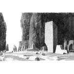 Estudio-Necropolis-012 - Dibujo y tinta sobre papel 27cm X 35cm
