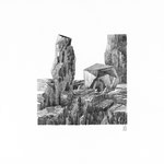 Estudio-Necropolis-02 - Dibujo sobre papel 27cm X 27cm