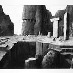 Estudio-Necropolis-022 - Dibujo y tinta sobre papel 110cm X 72cm