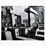 Estudio-Necropolis-026 - Xilografia Grabado sobre madera 33cm X 24cm