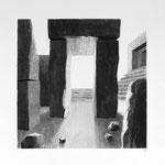 Estudio-Necropolis-018 - Dibujo y tinta sobre papel 45cm X 32cm
