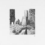 Estudio-Necropolis-03 - Dibujo sobre papel 27cm X 27cm