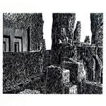 Estudio-Necropolis-024 - Xilografia Grabado sobre madera 32cm X 24cm