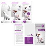 Infofolder für einen Hersteller von Tierurnen (Gesamtansicht)