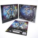 Logo, CD-Gestaltung und Flyer für die Band Electric Love