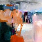 o.T., Acryl auf reinem Leinen, 70 x 70cm, verkauft