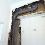 récreation de la ventilation primaire par chemisage et plomberie