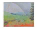 Weiland met regenboog.