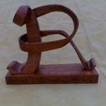 Initiale Prénom gift ideas wood sculpture