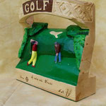 Golfeurs gift ideas wood sculpture