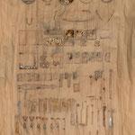 Ordnung Materialdruck aus Sammlung Schrott