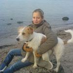 Mit Mini-Frauchen an der Ostsee