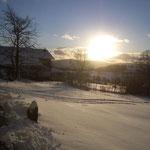 Ausblick von der Terrasse aus auf die Berge Wälder und Skilifte Pröller + Marktbuchen-Sankt Englmar