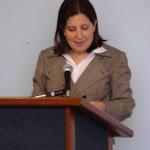 La pastora Michelle Cruz Predica