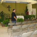El Templo Iglesia Misión Pastoral por dentro