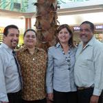 Rev. Candelaria, esposa y pastora Amparo y su esposo en la 2da. entrevista