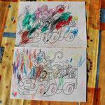 Kleurplaat van Sinterklaas, gekleurd in april, gewoon omdat het kan! :-)