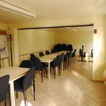 Der große Vereinsraum zur Nutzung als Versammlungsraum, als Trainingsraum mit Ergometern oder für Übernachtungen bei schlechtem Wetter.