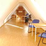 Der neu ausgebaute Dachboden als Umkleideraum für unsere Sportler aber auch als Übernachtungsmöglichkeit.