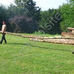 Distinction des bois à utiliser pour le poteaux porteurs et pour les chevrons.