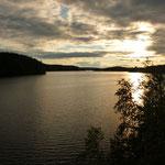 Закат на озере нижнее Любимовское