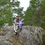 Маша с Варей на вершине