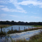 Der Bereich um das FORT THOMSEN überflutet © FF-Duhnen
