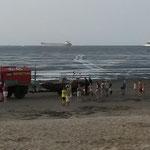 Der Wattrettungsunimog der BF ist zurück... / © Freiwillige Feuerwehr Cuxhaven-Duhnen