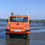 Das erste Boot trift ein © FF.Cuxhaven-Duhnen
