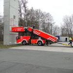 Die neue mobile Rettungstreppe © Freiwillige Feuerwehr Cuxhaven-Duhnen