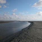 Priel im Duhner Watt ca. 1,5 Kilometer vor der Küste / © Freiwillige Feuerwehr Cuxhaven-Duhnen