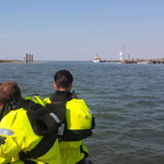 Kurz vor dem Anleger auf Neuwerk © Freiwillige Feuerwehr Cuxhaven-Duhnen