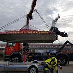 """Kranen der """"Franz Mützelfeldt"""" © Freiwillige Feuerwehr Cuxhaven-Duhnen"""