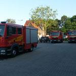 Die drei TSF-W der FF Stickenbüttel, FF Holte Spangen und FF Duhnen (v. l. n. r.) © Freiwillige Feuerwehr Cuxhaven-Duhnen