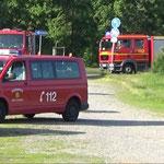 Ankunft der Kräfte aus Duhnen und des TSF Stickenbüttel © Freiwillige Feuerwehr Cuxhaven-Duhnen