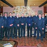 Der Wehrführung mit Gästen und Beförderten Kameraden © Freiwillige Feuerwehr Cuxhaven-Duhnen