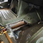 Durchgerostete Bleche im Fußraum werden erneuert © FF.Cuxhaven-Duhnen